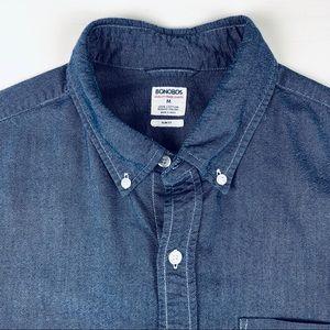 Bonobos Men's button front oxford shirt med blue